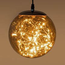 Glasball «Angel Hair» 80 sunny-warme LED