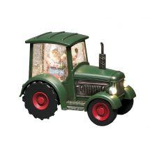 LED Schneekugel «Traktor»