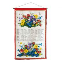 Kreier-Kalender aus Leinen «2021» Blumen