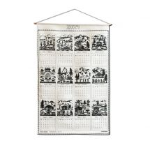 Kreier-Kalender aus Leinen «2021» Scherenschnitt Esther Gerber