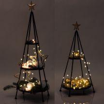 Metall-Tannenbaum mit Stern