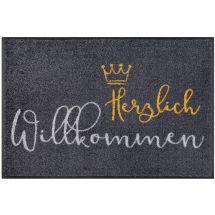 Fussmatte «Willkommen Krone» 50x75 cm