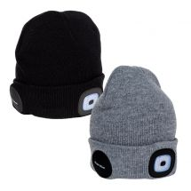 welltravel Beanie Kappe mit LED und Bluetooth, 2er Set