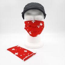 Masque en tissu «Swissly» coton coloré