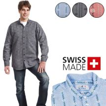 Chemise Edelweiss homme avec col montant