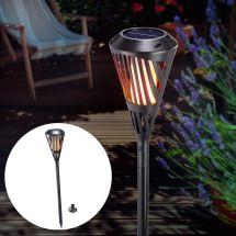 Solar LED Fackel mit Flammeneffekt