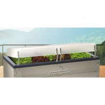 Juwel Offre spéciale platebande surélevée «Wood» avecjardinière et couverture thermique