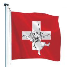 Drapeau suisse exclusif «Heidi»