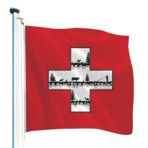 Schweizerfahne «Scherenschnitt»