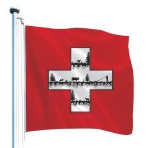 Drapeau suisse exclusif «Silhouette»