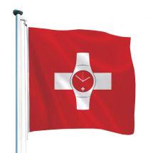 Schweizerfahne «Uhr»