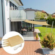 Voile solaire carré «Capri», champagne, avec 225 g/m² tissu HDPE