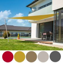 Voile solaire triangle «Cannes» 180g/m², 4×4×4 m