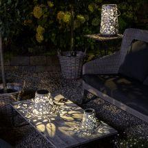 Solar LED Laterne «Flower Antik»