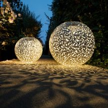 Boules solaires à LED «Leaves Ornament Antique»