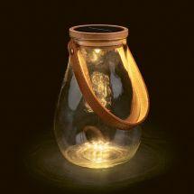 Lanterne LED solaire en verre «Creativ»
