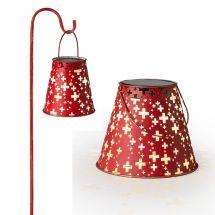 Set de lanternes solaires LED «Swiss», set de 2