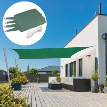 Voile solaire rectangulaire «Capri», pétrole-vert, avec 225 g/m² tissu HDPE