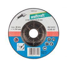 Wolfcraft Disque de ponçage pour métal, 125 mm, 1 pièce