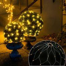 LED Buchsbaum-Netz -Batteriebetrieb-