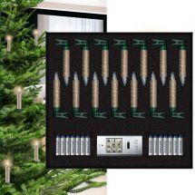 LED Mini Christbaumkerzen «Kristall Superlight», Cashmere, batteriebetrieben