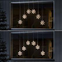 LED Lichtervorhänge «Schneeflocken & Sterne»
