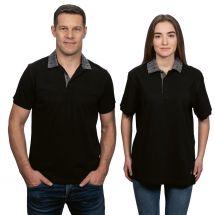 Unisex Polo-Shirt «Edelweiss» mit Einsatz
