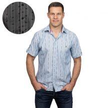 Herrenhemd «Edelweiss» kurzarm, mit Kragen und Brusttasche