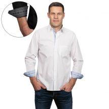 Herrenhemd «Edelweiss» langarm, mit Stoffeinsatz