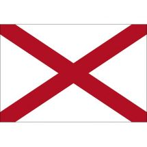 Fahne Bundesstaat Alabama USA