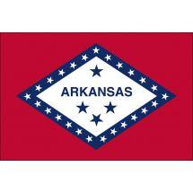 Fahne Bundesstaat Arkansas USA