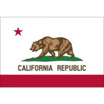 Fahne Bundesstaat Kalifornien USA