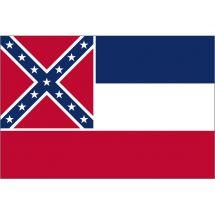 Fahne Bundesstaat Mississippi USA