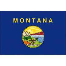 Fahne Bundesstaat Montana USA