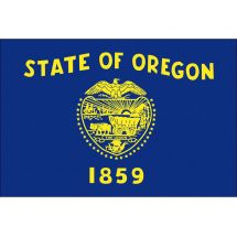 Fahne Bundesstaat Oregon USA