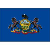 Fahne Bundesstaat Pennsylvania USA