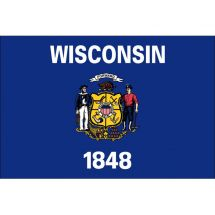 Fahne Bundesstaat Wisconsin USA