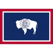 Fahne Bundesstaat Wyoming USA