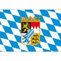 Fahne Bundesland Bayern mit Wappen Deutschland