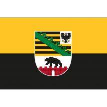 Fahne Bundesland Sachsen-Anhalt mit Wappen Deutschland