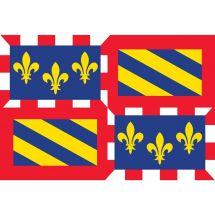 Fahne Region Bourgogne Frankreich