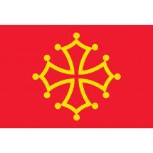 Fahne Region Midi-Pyrénées Frankreich