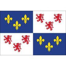 Fahne Region Picardie Frankreich