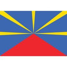 Fahne Region Réunion Frankreich