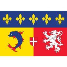 Fahne Region Rhône-Alpes Frankreich