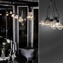 "LED Biergartenlichterketten-System ""Klar"""