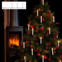 LED Weihnachtsbaumbeleuchtung «One string» mit 16 klaren Topbirnen