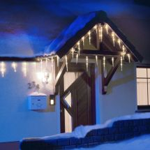 LED 32 Lichterkette Eiszapfen mit 48 kalt-weissen LED