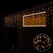 Eisregenkette «Bulb»mit runden 200 warm-weissen LED