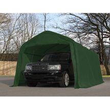 PVC Carport 7.2 x 3.3m, inkl. Sturmset dunkelgrün